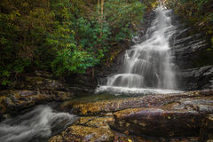 Red Fork Falls, Tennessee. Red Hook Waterfall located in the Unaka mountain range of Tennessee Royalty Free Stock Image