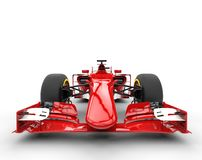 Red formula one car - front view Royalty Free Stock Photos