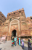 Red Fort in Agra, Amar Singh Gate, India, Uttar Pradesh Stock Photography