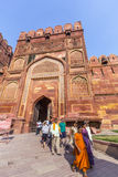 Red Fort in Agra, Amar Singh Gate, India, Uttar Pradesh Stock Image