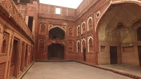 Red Fort of Agra - India stock video