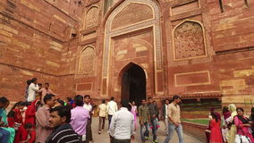 Red Fort of Agra - India stock footage