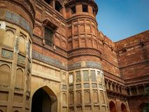 Red Fort in Agra India. Very much one of the main tourist attractions and points of interest in the area royalty free stock image