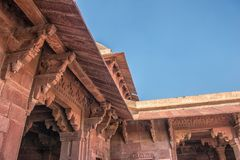 Red Fort of Agra. UNESCO World Heritage site. stock image