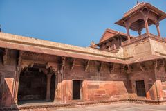 Red Fort of Agra. UNESCO World Heritage site. royalty free stock photo