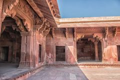 Red Fort of Agra. UNESCO World Heritage site. stock photo