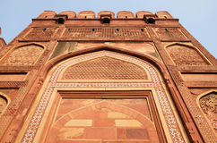 Red Fort, Agra. Unique architectural details of Red Fort, Agra, UNESCO World heritage site, India Stock Photos