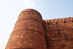 Red Fort, Agra. Unique architectural details of Red Fort, Agra, UNESCO World heritage site, India Stock Photography
