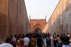Red Fort, Agra. Unique architectural details of Red Fort, Agra, UNESCO World heritage site, India Royalty Free Stock Image