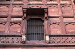 Red Fort, Agra. Unique architectural details of Red Fort, Agra, UNESCO World heritage site, India Stock Photo