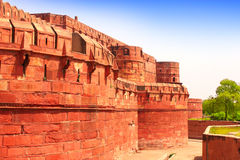Red Fort in Agra, Uttar Pradesh in India Royalty Free Stock Images
