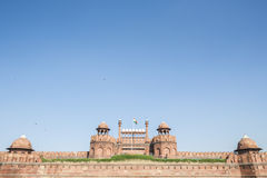 Red fort on blue Stock Image