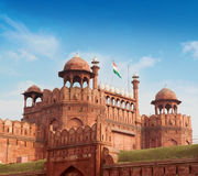 The Red Fort with blue sky Royalty Free Stock Photography