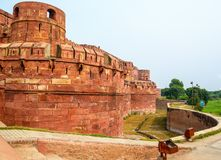 Red fort complex in Agra, India Royalty Free Stock Photography