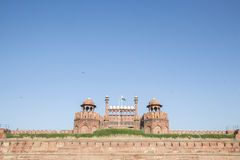 Red fort on day Royalty Free Stock Images
