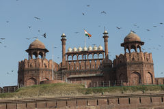 Red Fort, Dehli. The Red Fort in Old Dehli, India stock photos