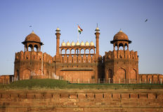 Red Fort, Delhi. The Red Fort durring sunset in Delhi, India Stock Photo