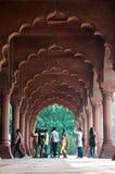 Red Fort, Delhi, India. DELHI, INDIA - NOVEMBER 17. Indian tourists enter the Red Fort 17 November 2009 Delhi, India Stock Photo