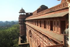 Red fort, Delhi, India. The Red Fort in in Delhi, India is a World Heritage monument Royalty Free Stock Photography