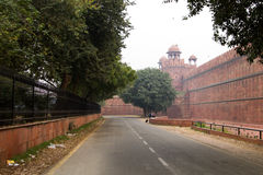 The Red Fort in Delhi India. December 2012 stock photography