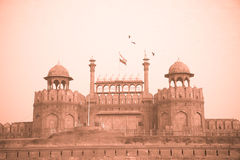 Red Fort, Delhi, India - monochrome Stock Photos