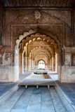 The Red fort of Delhi. Interior arches of Red Fort in Delhi Royalty Free Stock Image