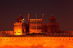 Red Fort. Delhi view at night Stock Photo