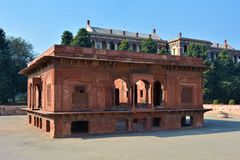 Red Fort, Delhi. Red Zafar Mahal in the Hayat Bakhsh Bagh in Red Fort, Delhi, India Stock Images