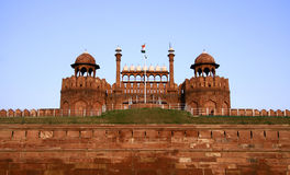 Red fort in the evening sky, delhi Stock Images