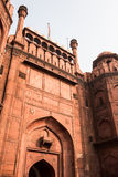 Red Fort Facade Stock Photo