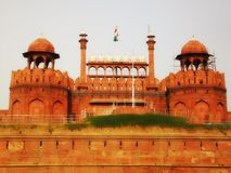 Red Fort. Famous Red Fort in New Delhi, India, a historical landmark Stock Photos