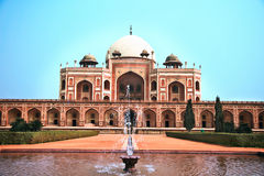 The Red Fort with fountain Royalty Free Stock Images