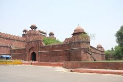 The Red Fort is a historical fort in the city of Delhi in India royalty free stock photos