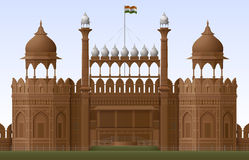 Red Fort. Illustration of Red Fort in New Delhi, EPS 10  contains transparency Stock Photography