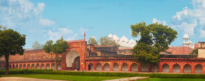 Red Fort. India, Agra. Panorama Stock Image