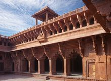 Red fort inside. Agra. India Stock Photography