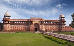 Red fort inside. Agra. India Royalty Free Stock Images