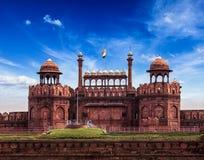 Red Fort (Lal Qila). Delhi, India Royalty Free Stock Photo