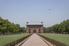 Red fort or lal Qila in delhi is a UNESCO heritage site which has a museum dedicated to the brave warriors who fought for India. Red fort or lal Qila in delhi stock images