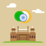 Red fort. Lal-Qila. Famous Indian Landmark EPS8 Stock Photography