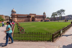 Red Fort lawn Royalty Free Stock Photos