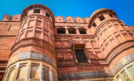 Red Fort massive walls Royalty Free Stock Image