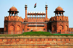 Red Fort of New Delhi. The Red Fort of New Delhi, it was built by Shahjahan as the Delhi citadel of the 17th Century Stock Photography
