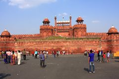Red Fort New Delhi India. The Red Fort built in red sandstone is one of the most visited landmarks in New Delhi. India stock photos