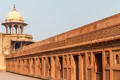 The red fort. A part of the wall surrounding the red fort in india Stock Images
