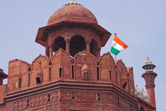 Red Fort Tower, Old Delhi Stock Photo