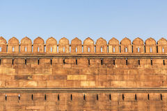 Red Fort Wall Stock Photo