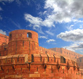 Red fort wall in agra Royalty Free Stock Photos