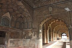 The Red Fort wall decoration Stock Photo