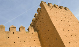 Red fortified walls of Rabat Stock Photo